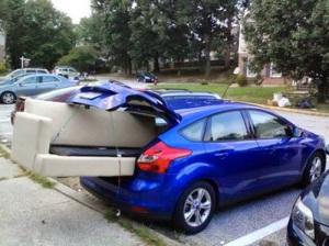 Mindra bra packning av bil